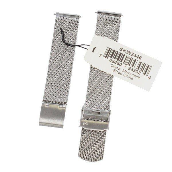 SKAGEN スカーゲン バンド ベルト メッシュ ダブルロック 交換 SKW2446 SKW2447 ハルド ソーラー 純正 バネ棒付き シルバー ローズゴールド 腕時計 修理|brain-products|02