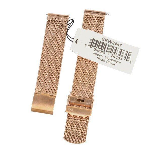 SKAGEN スカーゲン バンド ベルト メッシュ ダブルロック 交換 SKW2446 SKW2447 ハルド ソーラー 純正 バネ棒付き シルバー ローズゴールド 腕時計 修理|brain-products|03