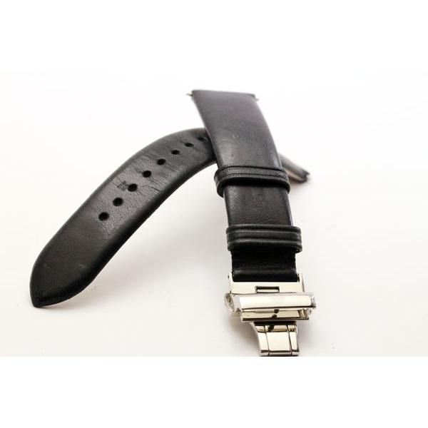 sneakers for cheap 0c632 f90ef 特価 EMPORIO ARMANI エンポリオアルマーニ 腕時計 専用バンドパーツ 純正ベルトパーツ 20mmクラシック レザー ブラック  バネ棒2本付き 腕時計用 AR0382