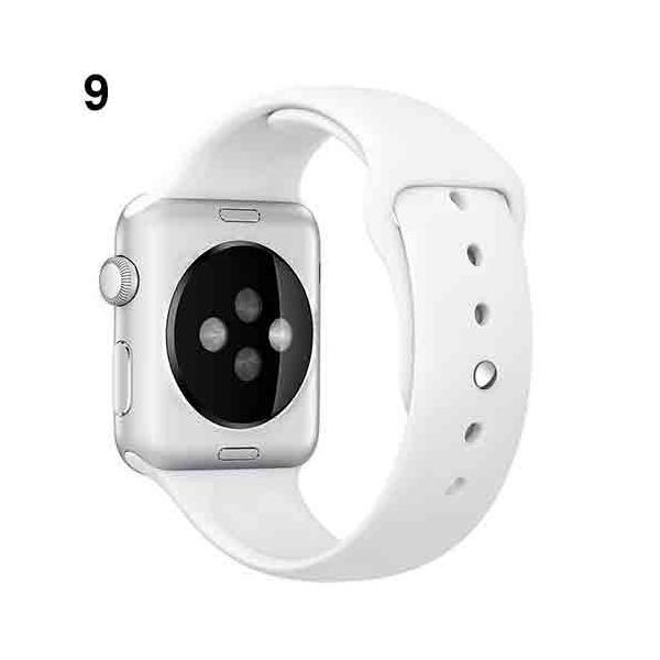 アップルウォッチ Apple watch シリーズ 1 2 3 4 38mm 40mm 42mm 44mm バンド シリコン スポーツバンド 腕時計 汎用モデル|brain-products|06