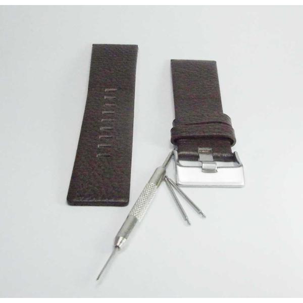 時計 腕時計 バンド ベルト DIESEL ディーゼル ブラウン 28mm 26mm ディーゼル 時計部品 時計修理  メンズ バンド (バネ棒外し+バネ棒セット) 汎用バンド|brain-products|03