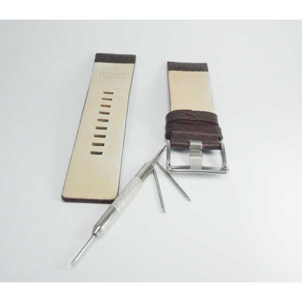 時計 腕時計 バンド ベルト DIESEL ディーゼル ブラウン 28mm 26mm ディーゼル 時計部品 時計修理  メンズ バンド (バネ棒外し+バネ棒セット) 汎用バンド|brain-products|04