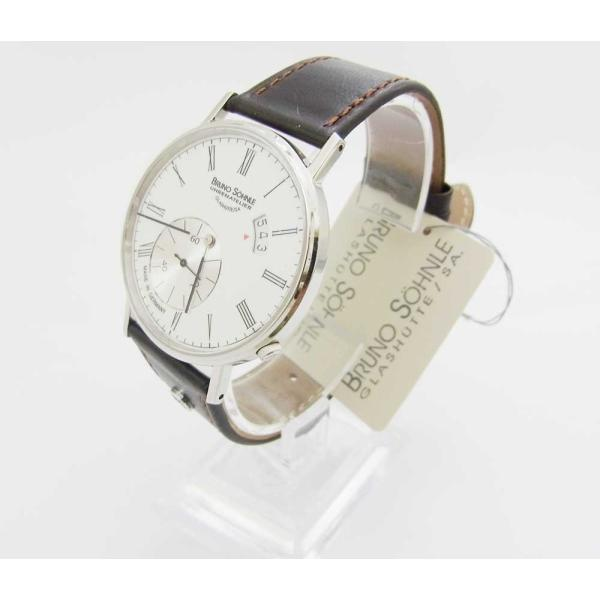 new arrival 18cd2 d30fb 時計 腕時計 シンプル 薄型 ブルーノ ゾンレー クォーツ 高級 ドイツ製 メンズ 修理再生品