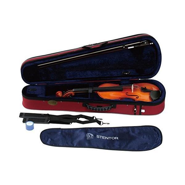 STENTOR バイオリン アウトフィット 適応身長130~145cm ハードケース、弓、松脂 SV-180 3/4 brainpower