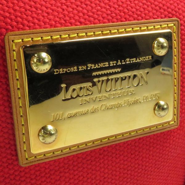 ルイヴィトン LOUIS VUITTON アンティグア・カバPM M40037 キャンバス ルージュ レディース ハンドバッグ 美品