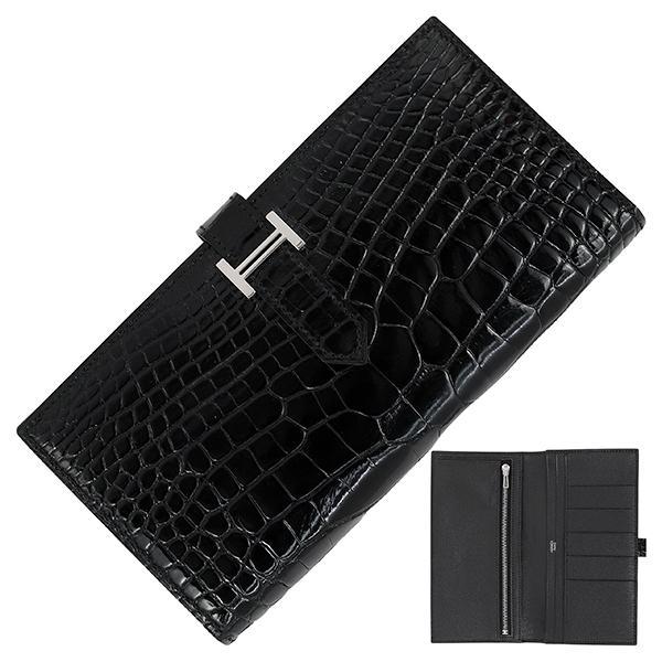 エルメス財布ベアンクラシックエプソンブラック1014