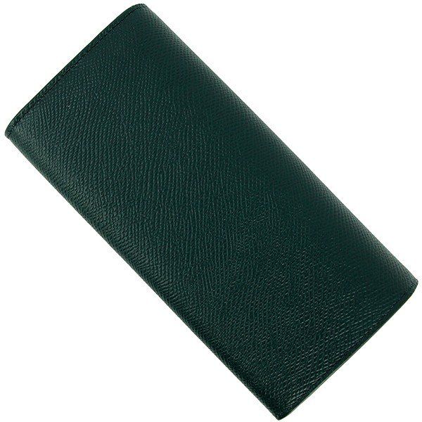 a0c07bf69a0a85 ... 新品 セリーヌ ラージフラップウォレット グリーン 緑 レザー 二つ折り長財布 お札入れ カード入れ ...