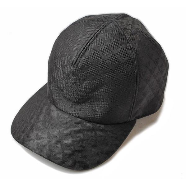 separation shoes c24e4 b0499 エンポリオアルマーニ キャップ/帽子 EMPORIO ARMANI メンズ ベースボールキャップ ブラック/ロゴ 627766 6A507 00020