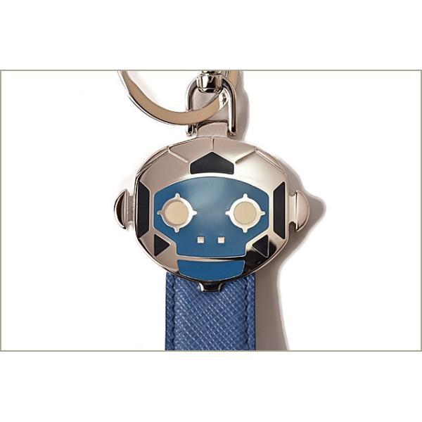 プラダ キーリング/キーホルダー PRADA ロゴ SAFFIANO ROBOT/サフィアノ MONKEY/コミック 2TL244 COBALT/コバルト