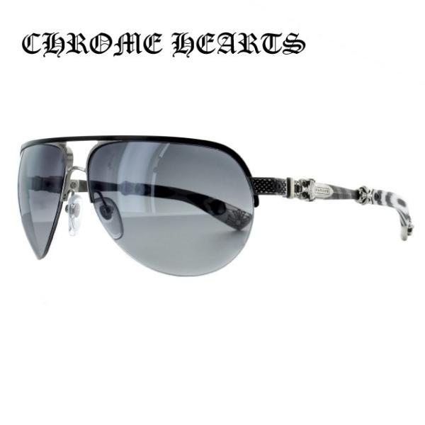 クロムハーツ CHROME HEARTS サングラス BLADE HUMMER I 66 ブラッシュドブラック/シャイニーシルバー - ブラックホワイトG10 レギュラーフィット ダガー|brand-sunglasshouse