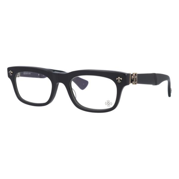クロムハーツ 伊達 度付き 度入り メガネ 眼鏡 フレーム CHROME HEARTS BSフレアー 折りたたみ ウェリントン シルバー メンズ