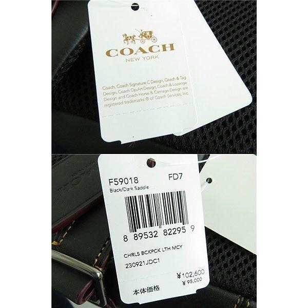 未使用品★定価102600円 コーチ COACH F59018 ミッキー チャールズ レザーバックパック/リュックサック ブラック