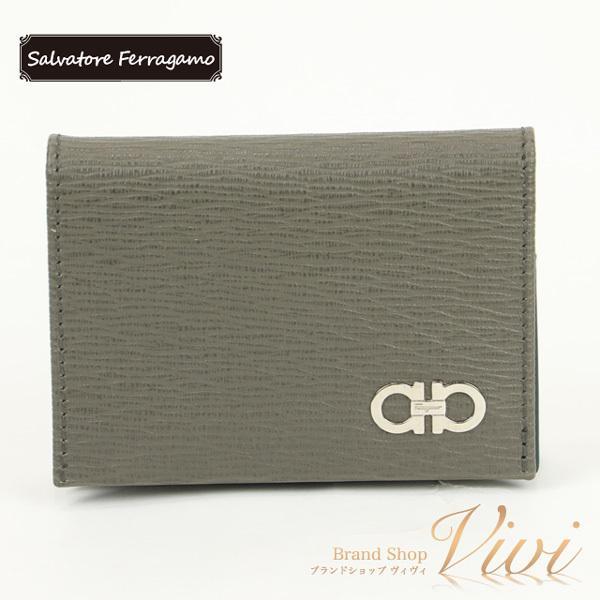 SalvatoreFerragamoフェラガモ名刺入れメンズファッション小物66A062/723-857TCLD-MI
