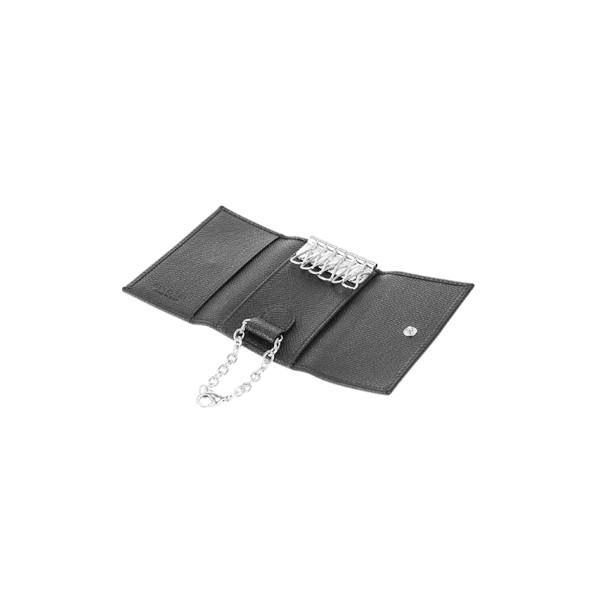 9b5772b8abce ... ブルガリ 財布 キーケース メンズ BVLGARI 6連キーケース 20864 GRAIN BLK CLASSICO ラッピング無料 ...