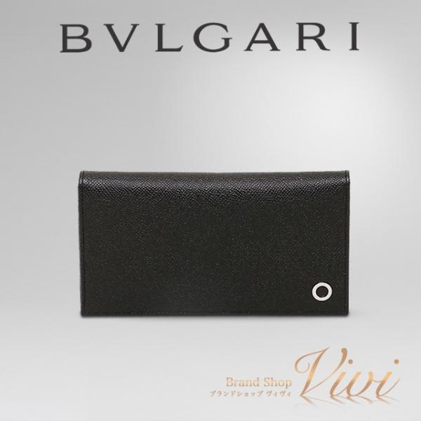 ブルガリ 財布 長財布 メンズ BVLGARI 長財布 30398 GRAIN BLK BVLGARIBVLGARI ラッピング無料 UE0033 送料無料 brand-vivi