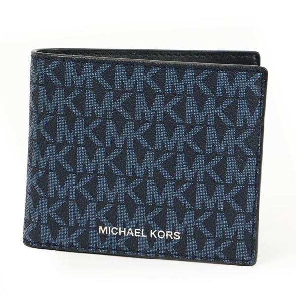 MICHAELKORSマイケルコース二つ折り財布メンズ財布36U9LCRF3B/ADMIRAL/PALEBLUETCLD-MI