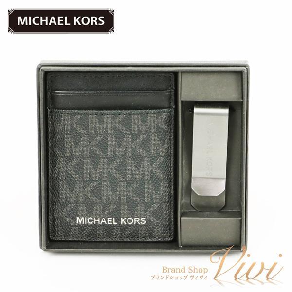 MICHAELKORSマイケルコースカードケースメンズファッション小物37H9LGFD1B/BLACKTCLD-MI