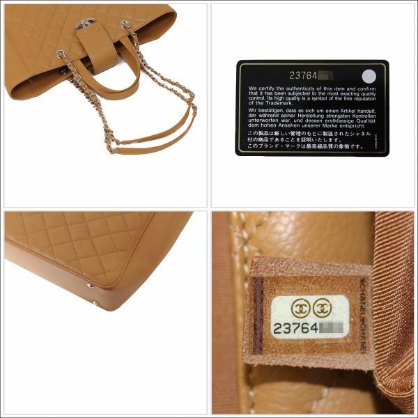 シャネル キャビアスキン ラージ CC BOX 2way ショッピングトートバッグ ブラウン 箱付(新品・未使用品)
