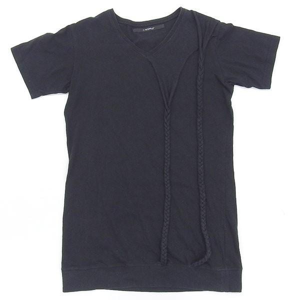 サッタ Vネック 半袖 Tシャツ ブラック size01 X02350