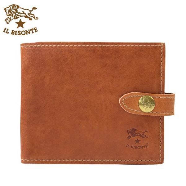 0fd928e4bf47 イルビゾンテ IL BISONTE メンズ二つ折り財布 2つ折り財布 パスケース 定期入れ アンティーク加工