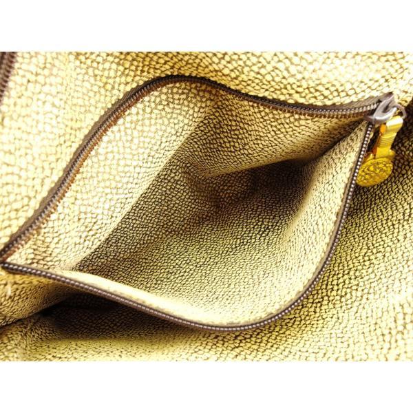 ボルボネーゼ Borbonese バッグ ハンドバッグ うずら柄 redwallタグ ベージュ ブラウン ゴールド レディース メンズ  Bag