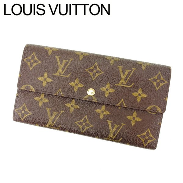 ルイヴィトン Louis Vuitton 財布 長財布 モノグラム ポシェットポルトモネクレディ レディース 中古|branddepot-tokyo