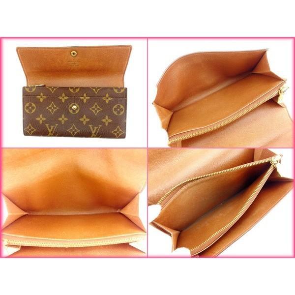 ルイヴィトン Louis Vuitton 財布 長財布 モノグラム ポシェットポルトモネクレディ レディース 中古|branddepot-tokyo|05