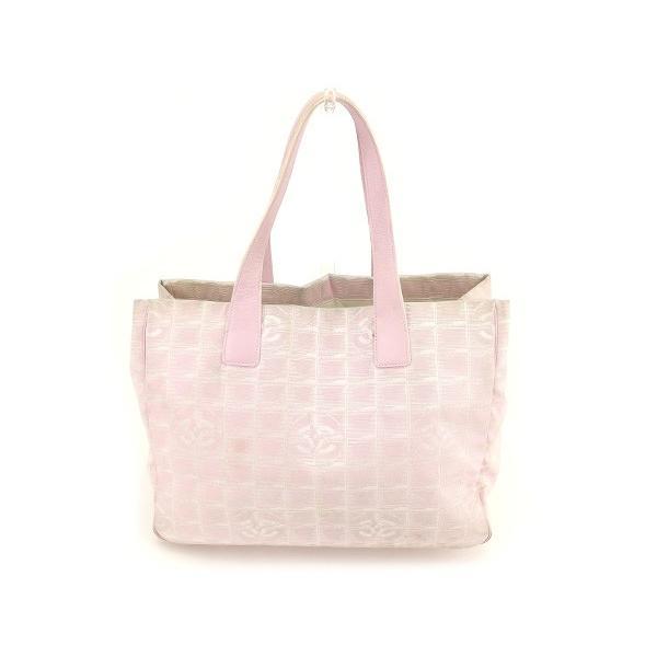 シャネル Chanel バッグ トートバッグ ニュートラベルライン ニュートラベルライントートMM ピンク レディース 中古 Bag
