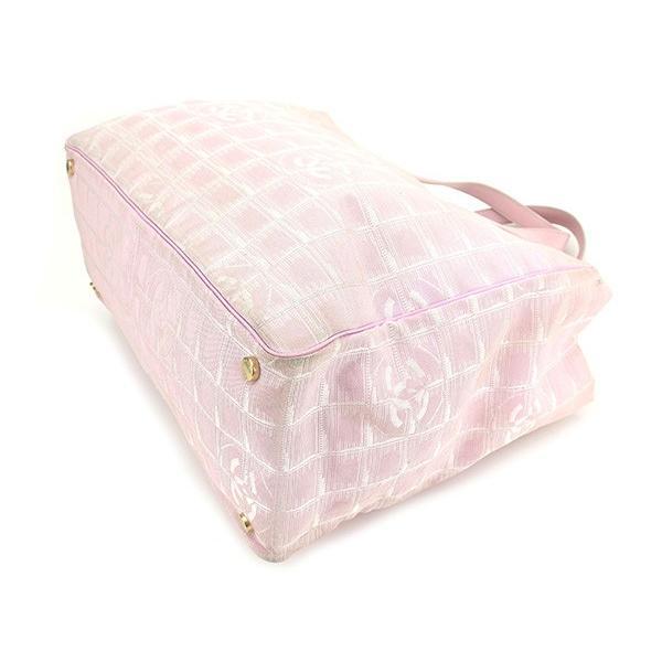 シャネル Chanel バッグ トートバッグ ニュートラベルライン トートMM ピンク ゴールド レディース  Bag