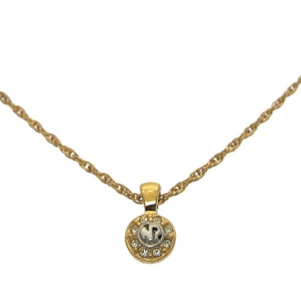 ニナリッチ Nina Ricci ネックレス ロゴ ゴールド シルバー レディース 中古 Necklace branddepot-tokyo