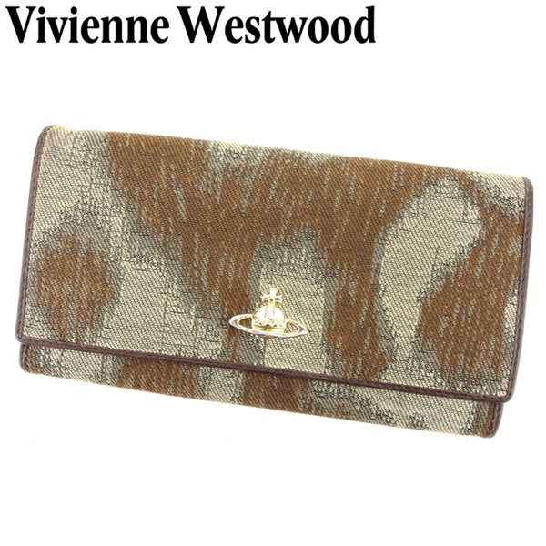 8cb4d9873c34 ヴィヴィアン ウエストウッド Vivienne Westwood 長財布 ファスナー付き 長財布 レディース メンズ オーブ 中古 人気 ...