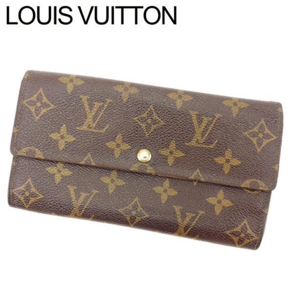 detailed look 858f9 cb1d4 ルイヴィトン Louis Vuitton 財布 長財布 モノグラム ポシェットポルトモネクレディ レディース 中古