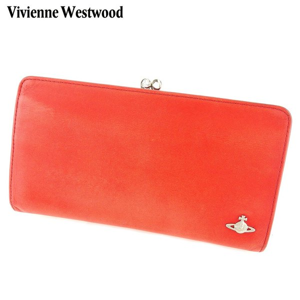 f41454e8f718 ヴィヴィアン ウエストウッド Vivienne Westwood がま口 財布 長財布 レディース メンズ オーブ 中古|branddepot- ...