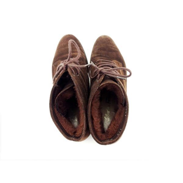サルヴァトーレ フェラガモ Salvatore Ferragamo ブーツ シューズ 靴 レディース #6 編み上げ 中古