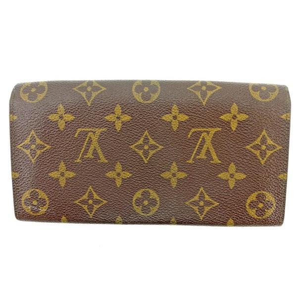 ルイヴィトン Louis Vuitton 財布 長財布 モノグラム ポシェットポルトモネクレディ レディース メンズ 中古