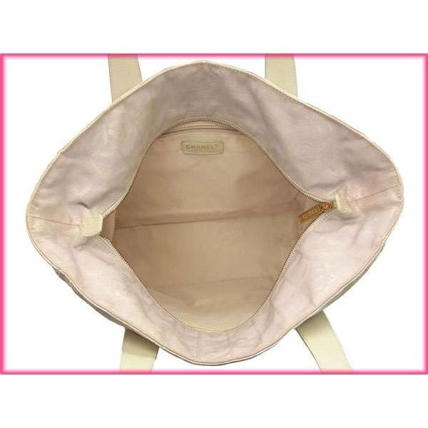 シャネル Chanel バッグ トートバッグ ニュートラベルライントートGM ピンク ホワイト レディース 中古 Bag