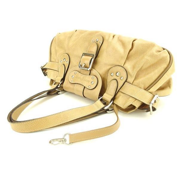 ロンシャン Longchamp バッグ ハンドバッグ スタッズ ベージュ シルバー レディース  Bag