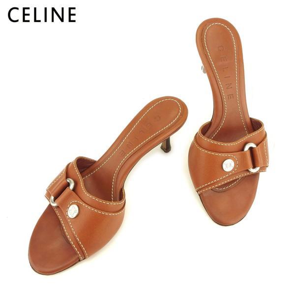 セリーヌ CELINE サンダル シューズ 靴 レディース #35ハーフ 中古