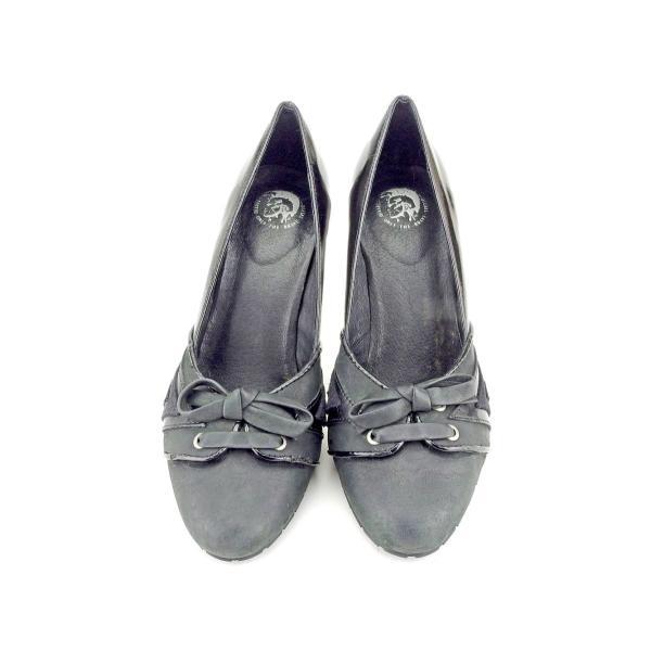 ディーゼル DIESEL パンプス シューズ 靴 レディース ♯35 ハイヒール リボン 中古 人気 セール P914