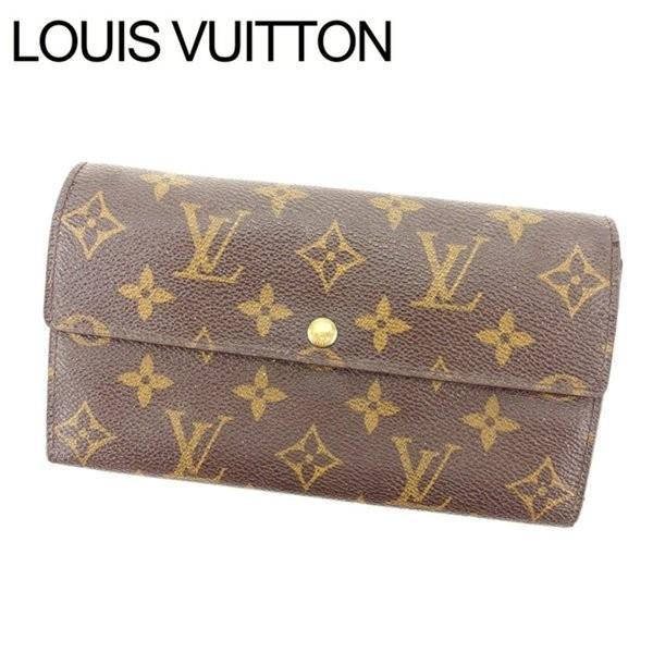 ルイヴィトン Louis Vuitton 長財布 ファスナー二つ折り レディース ポシェットポルトモネクレディ M61725 モノグラム