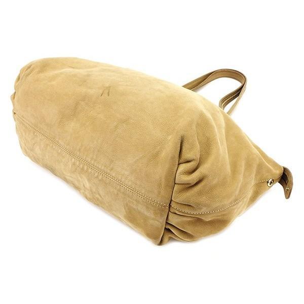 フェンディ Fendi バッグ トートバッグ FFプレート ベージュ レディース メンズ 中古 Bag