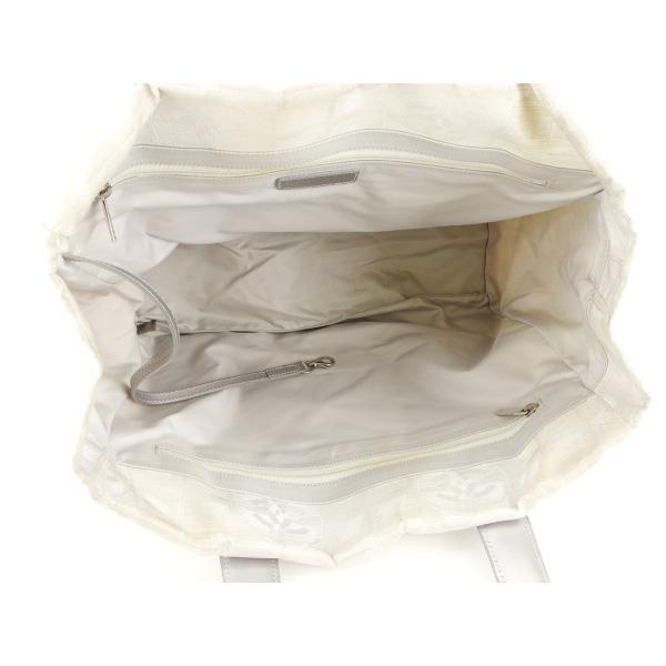 シャネル Chanel バッグ トートバッグ ニュートラベルライン ニュートラベルライントートMM シルバー レディース メンズ 中古 Bag