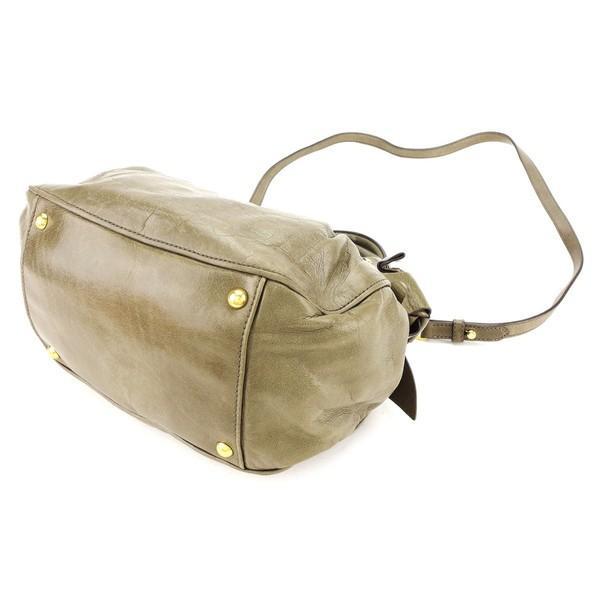 ミュウミュウ Miu Miu バッグ ハンドバッグ リボンモチーフ ブラウン系 レディース メンズ  Bag
