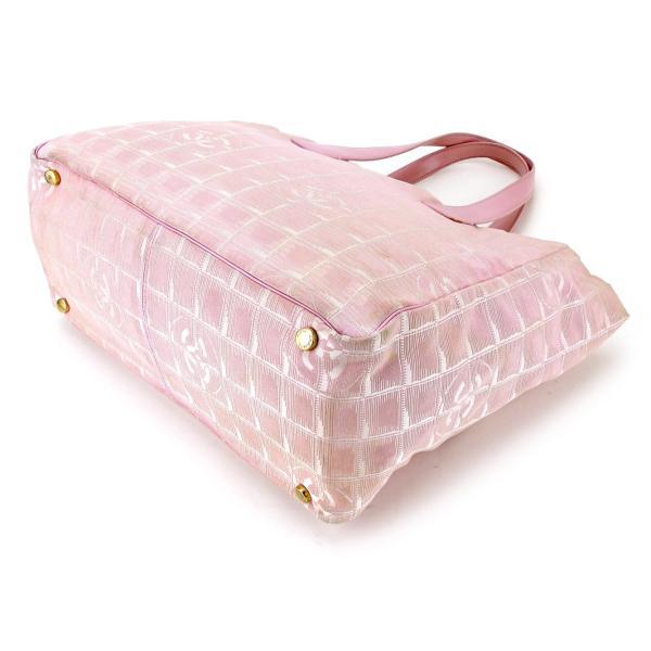 シャネル Chanel バッグ トートバッグ ニュートラベルライン トートMM ピンク ゴールド レディース 中古 Bag