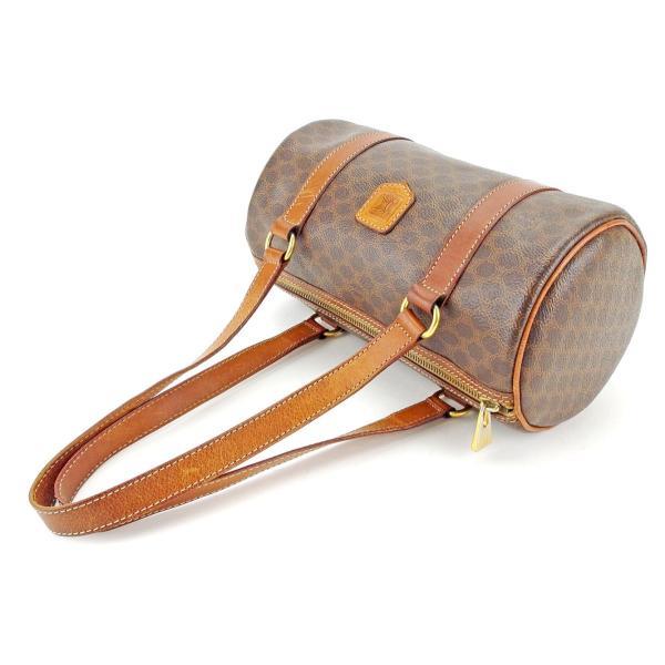 セリーヌ Celine バッグ ハンドバッグ マカダム ブラウン系 ゴールド レディース メンズ  Bag