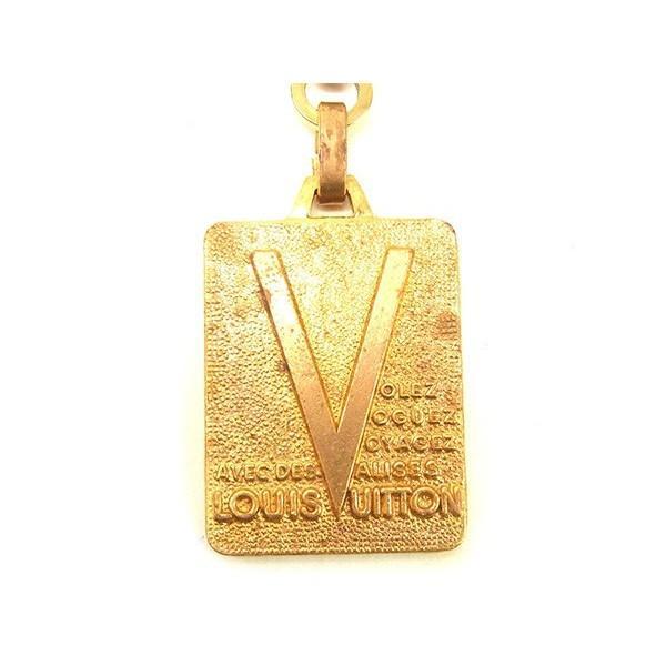 ルイヴィトン Louis Vuitton キーホルダー ヴィンテージ ゴールド レディース メンズ 中古