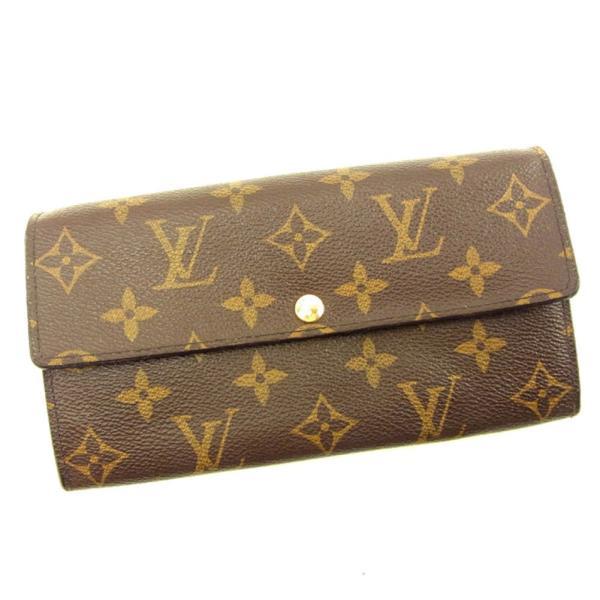 ルイヴィトン Louis Vuitton 財布 長財布 モノグラム ポルトフォイユサラ レディース メンズ 中古|branddepot-tokyo