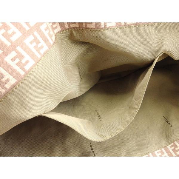 フェンディ Fendi バッグ トートバッグ ズッキーノ FFプレート ブラウン ピンク ゴールド レディース  Bag