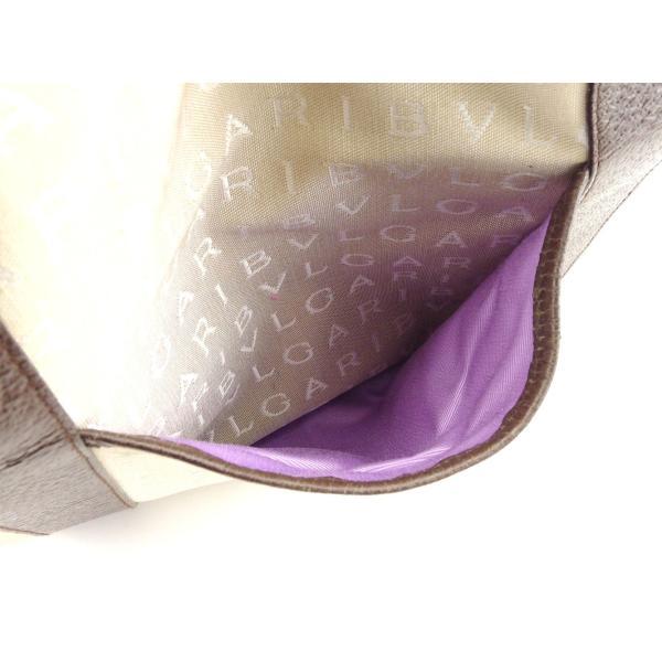 ブルガリ Bvlgari バッグ トートバッグ レッタレ ロゴマニア ベージュ ブラウン シルバー系 レディース メンズ 中古 Bag