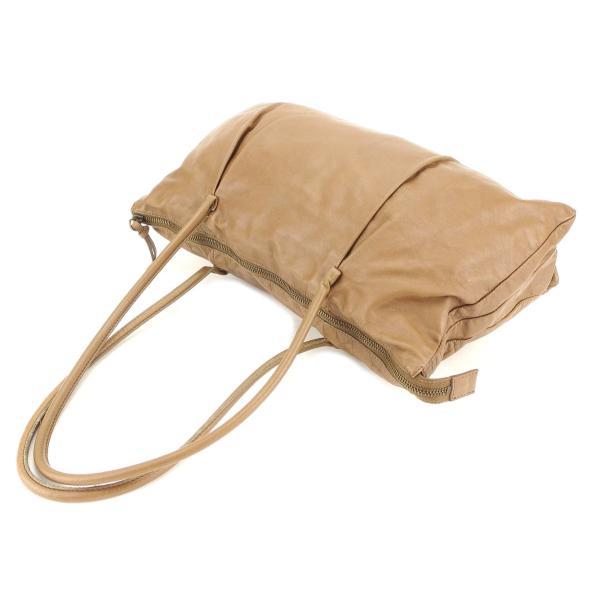 ミュウミュウ Miu Miu バッグ トートバッグ ロゴ タック入り ブラウン アンティークゴールド レディース 中古 Bag
